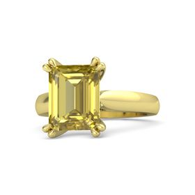 Emerald-Cut Yellow Sapphire 18K Yellow Gold Ring