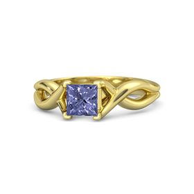 Princess Tanzanite 14K Yellow Gold Ring