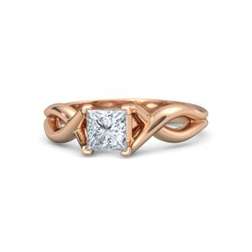 Princess Diamond 18K Rose Gold Ring