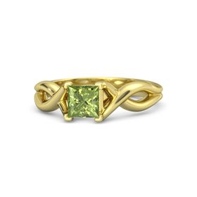 Princess Peridot 18K Yellow Gold Ring