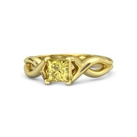 Princess Yellow Sapphire 18K Yellow Gold Ring