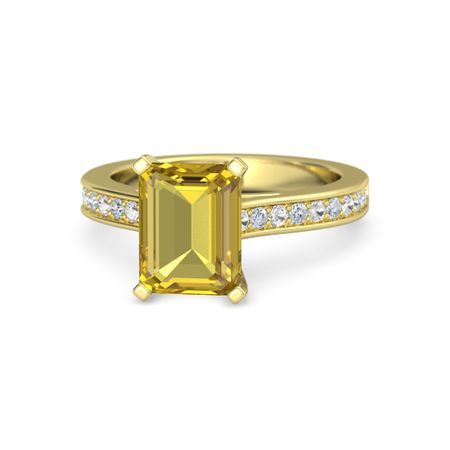 Emerald-Cut Flora Ring (9mm gem)