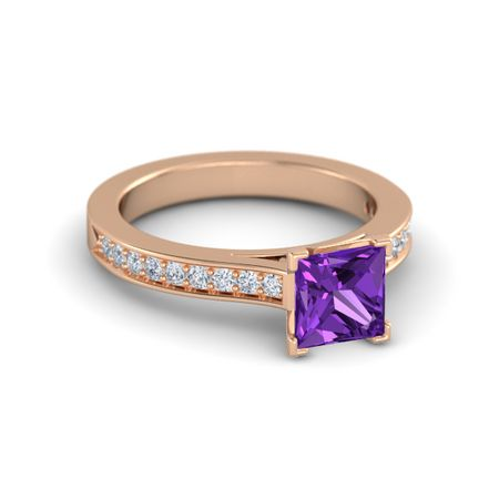 Princess-Cut Flora Ring (6mm gem)