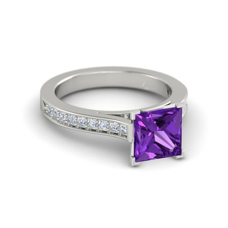 Princess-Cut Flora Ring (7mm gem)