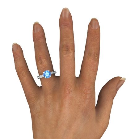 Round-Cut Flora Ring (8mm gem)