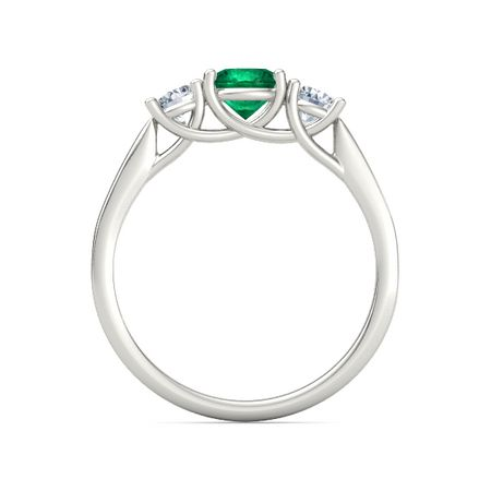 Ivy Three-Stone Round-Cut Ring (5.5mm gem)