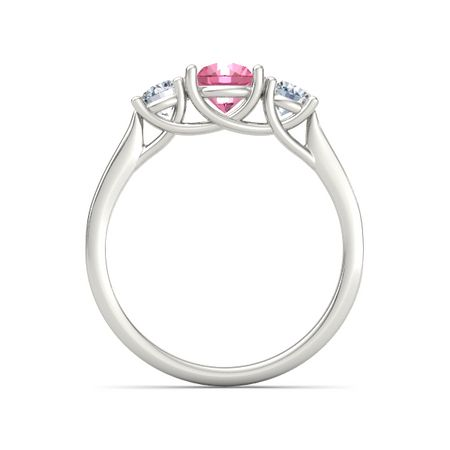 Ivy Three-Stone Round-Cut Ring (6mm gem)