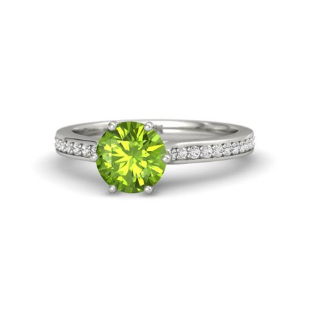 Ivy Collection Six-Prong Round-Cut Pave Ring (7mm gem)