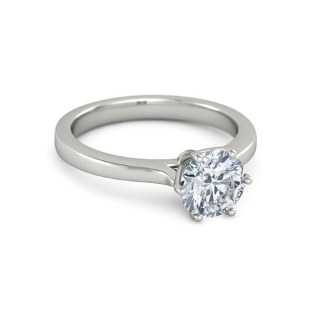 Ivy Six-Prong Round-Cut Ring (7mm gem)