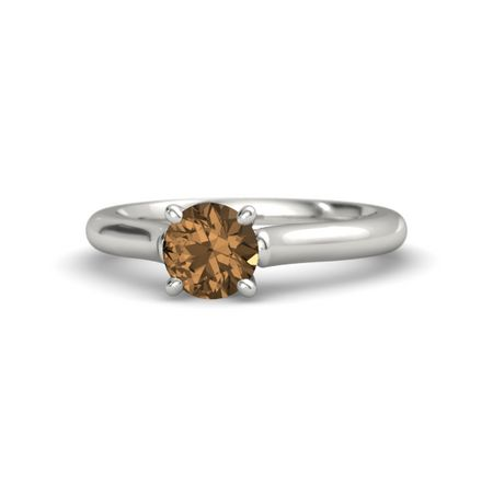 Ivy Round-Cut Ring (6mm gem)