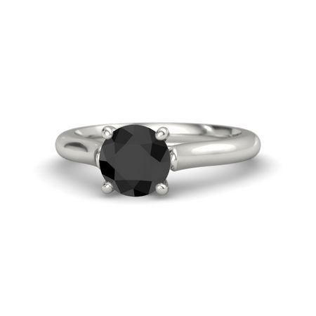 Ivy Round-Cut Ring (7mm gem)