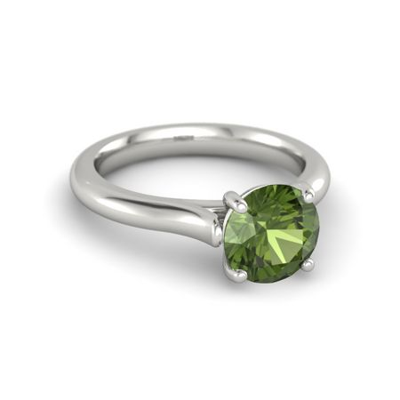 Ivy Round-Cut Ring (8mm gem)