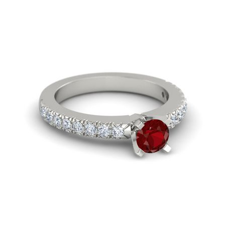 Round-Cut Lara Ring (5mm gem)