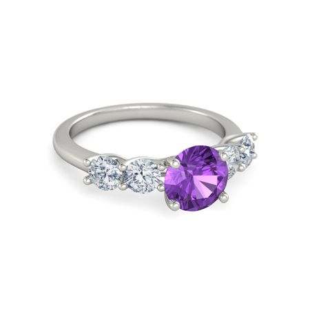 Ivy Five-Stone Round-Cut Ring (7.5mm gem)