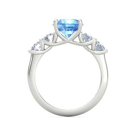 Ivy Five-Stone Round-Cut Ring (8mm gem)