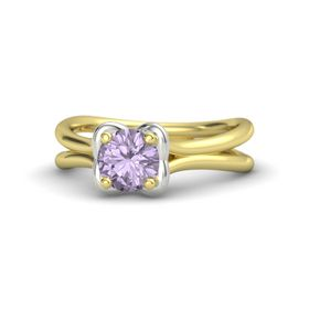 Round Rose de France 14K Yellow Gold Ring
