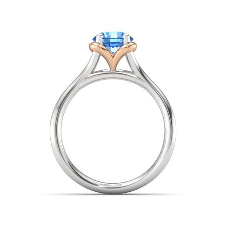 Abbey Split Ring (6.5mm gem)