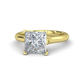 Princess Diamond 14K Yellow Gold Ring