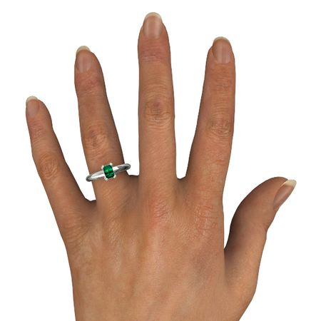 Emerald-Cut Lisa Ring (6mm gem)