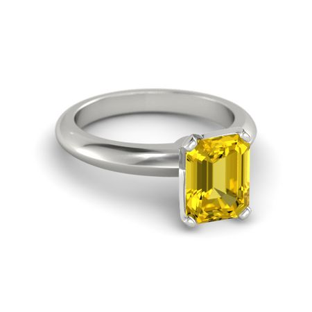 Emerald-Cut Lisa Ring (9mm gem)