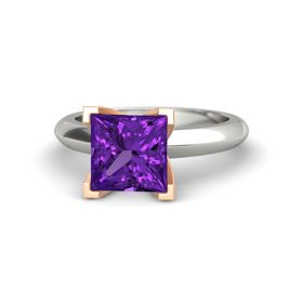 Princess Amethyst 14K White Gold Ring
