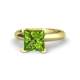 Princess Peridot 14K Yellow Gold Ring