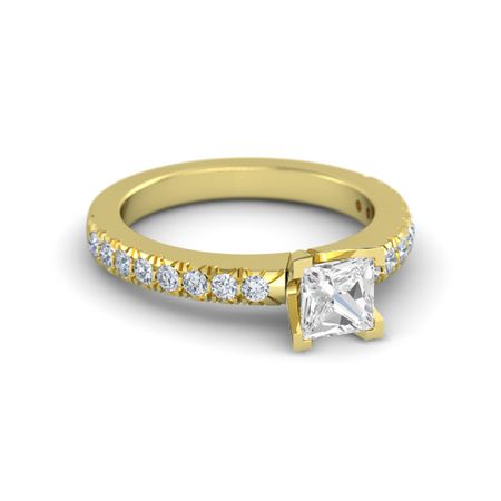 Princess-Cut Lara Ring (5mm gem)