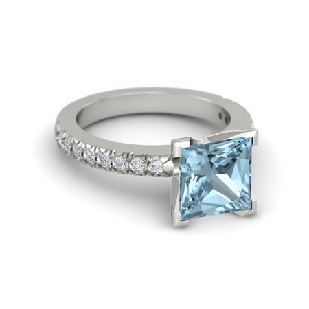 Princess-Cut Lara Ring (8mm gem)