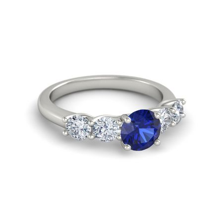 Ivy Five-Stone Round-Cut Ring (6.5mm gem)