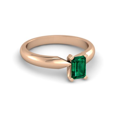 Emerald-Cut Ara Ring (6mm gem)