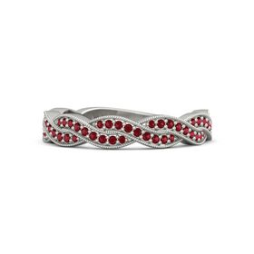 14K White Gold Ring with Ruby