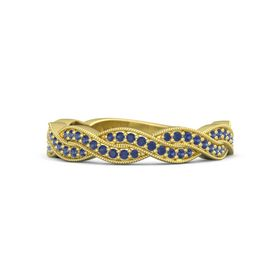 14K Yellow Gold Ring with Sapphire