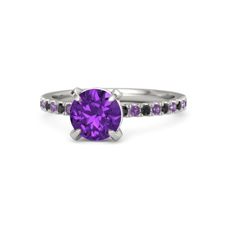 Round-Cut Candace Ring (7mm gem)
