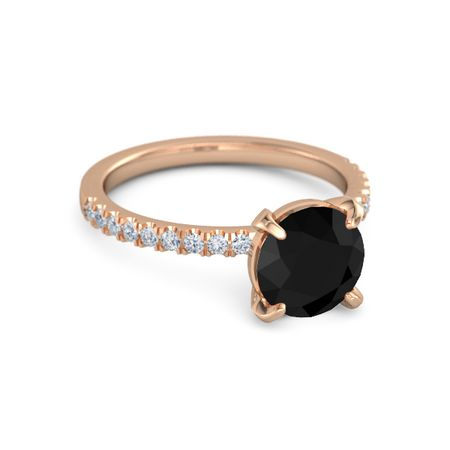 Round-Cut Candace Ring (8mm gem)