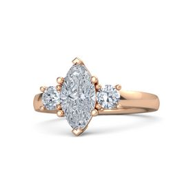 Marquise Diamond 14K Rose Gold Ring with Diamond
