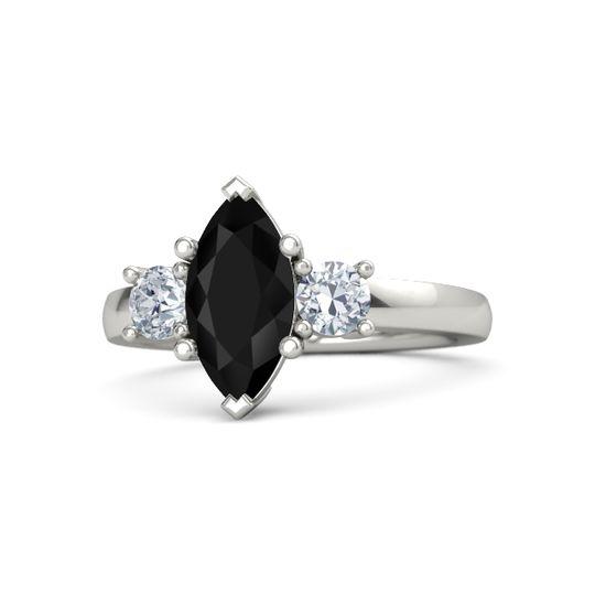 gwyneth ring - Onyx Wedding Ring