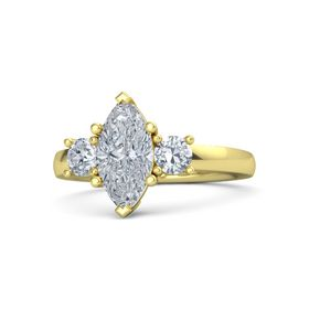 Marquise Diamond 14K Yellow Gold Ring with Diamond