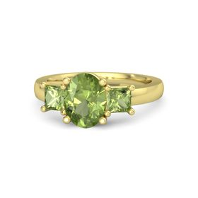 Oval Peridot 14K Yellow Gold Ring with Peridot