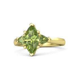 Marquise Peridot 14K Yellow Gold Ring with Peridot