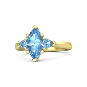 Marquise Blue Topaz 14K Yellow Gold Ring with Blue Topaz