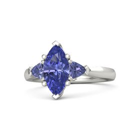Marquise Tanzanite Palladium Ring with Tanzanite