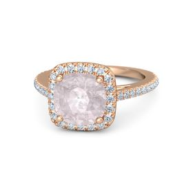 Wedding Rings Rose Quartz Wedding Rings