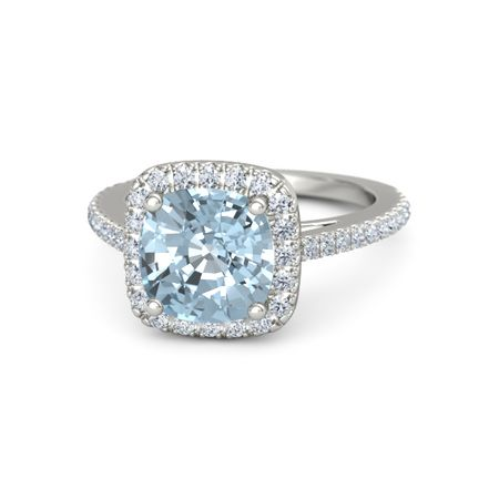 olivia ring 8mm gem - Aquamarine Wedding Rings