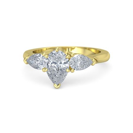 Triple Pear Ring