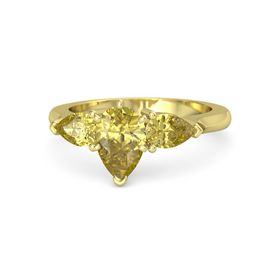 Pear Yellow Sapphire 14K Yellow Gold Ring with Yellow Sapphire