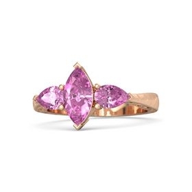 Marquise Pink Sapphire 14K Rose Gold Ring with Pink Sapphire