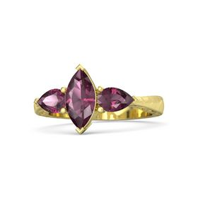 Marquise Rhodolite Garnet 14K Yellow Gold Ring with Rhodolite Garnet