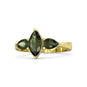 Marquise Green Tourmaline 18K Yellow Gold Ring with Green Tourmaline