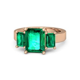 Emerald Emerald 14K Rose Gold Ring with Emerald