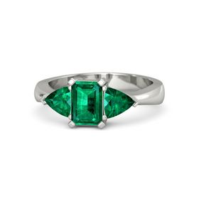 Emerald Emerald 14K White Gold Ring with Emerald